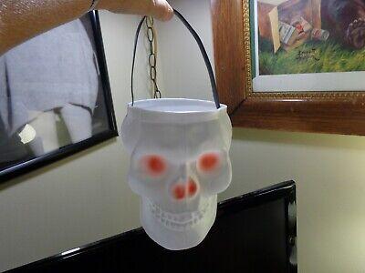Empire Plastic Skeleton Skull Trick Treat Halloween Candy Bucket Pail Blow Mold