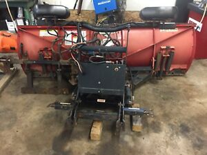 7.6 boss straight blade/plow works great.