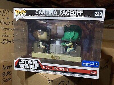 Funko Pop! Cantina Star Wars Faceoff Han Solo Greedo Walmart *NEW Movie Moment