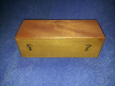 Vintage Wooden Pen / Ink / Nib Storage Box w/ Contents
