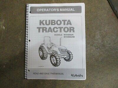 Kubota M7040 Suh Suhd M 7040 Tractor Owners Maintenance Manual