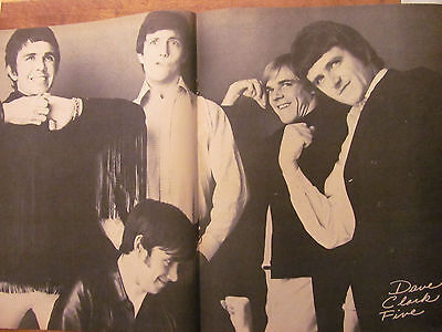 The Dave Clark Five, Two Page Vintage Centerfold Poster