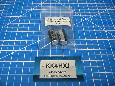 100uf 400v Radial - Electrolytic Capacitors - Lot Of 2