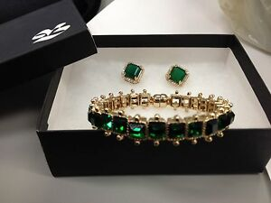 Anne Kline Gem Bracelet & Earrings