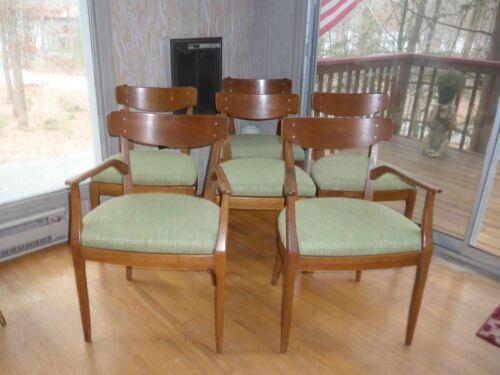 6 Mid-Century Modern Walnut Dining Chairs