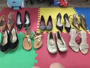 Lot de souliers femme 6 / size 6 women's shoes
