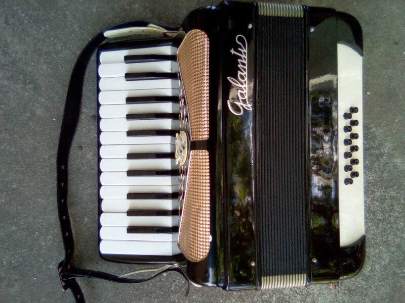 Galanti Accordion 25 Key / 12 Bass Vintage Instrument With Case