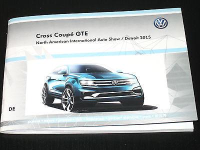 VW Cross Coupé GTE=Atlas/Touareg/Tiguan Pressemappe/Press Kit NAIAS-Detroit 2015