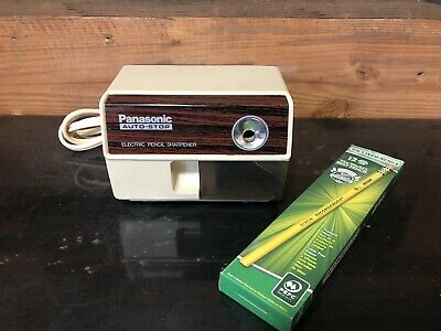Vintage Panasonic Kp-110 Electric Pencil Sharpener With Auto Stop Free Pencils