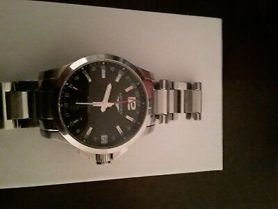 Mint condition Longines Conquest Classic GMT Men's Watch Automatic Black L704.2