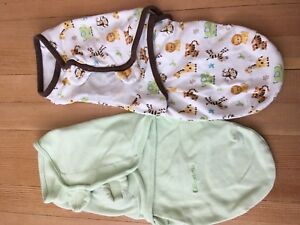 Two cotton swaddlers- 0-6months