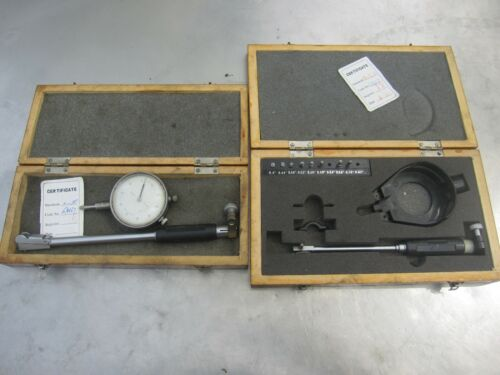 Dial Bore cylinder gauges .4-.7 in wooden boxes as shown