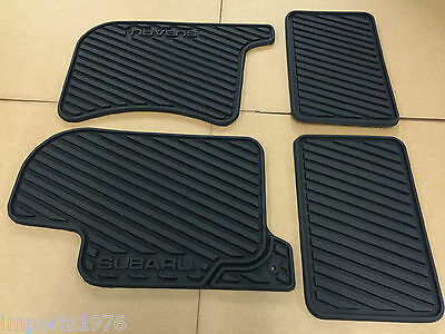 1998   2002 Subaru Forester Genuine OEM All weather Rubber floor mats Black 4pcs