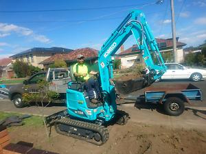 Kobelco excavator Zero Swing 1.7 tonne Coburg North Moreland Area Preview