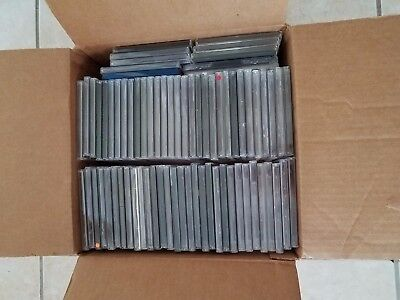 Boxed Lot Of 75 Cd Jewel Cases In Good To Excellent Condition