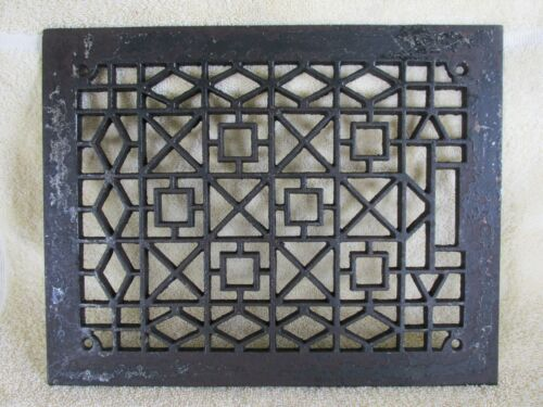 Antique Art Deco Style Grate, Vent, Register Cover, Old House Salvage