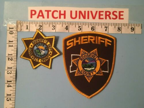 LOT OF TWO DIFFERENT ROOSEVELT COUNTY MT SHERIFF SHOULDER PATCHES   J112