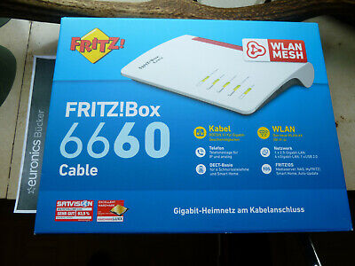 FREIE AVM FRITZ!Box 6660 Cable Mesh Router (20002910) in OVP Rechnung 6.11.20