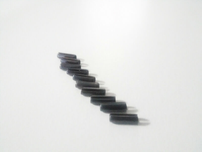 10X  Black Slotted Spring Roll Pin  5/64 x 1/4    High Carbon Steel