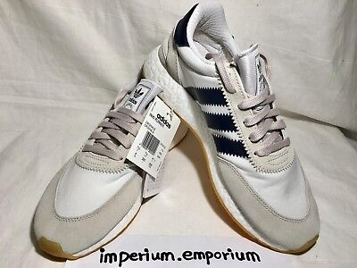 Men's Adidas Iniki Runner Trainers Sneakers Shoes White/Navy Size UK 7.5