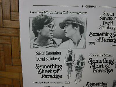 SOMETHING SHORT OF PARADISE Movie Mini Ad Sheet VTG Advertising Poster Clip Art