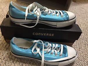New Blue converse shoes