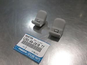 Mazda 3, 5, CX-7, RX-8, CX-9 MPV & 6 2004-2011 New OEM Grey sun visor clip set