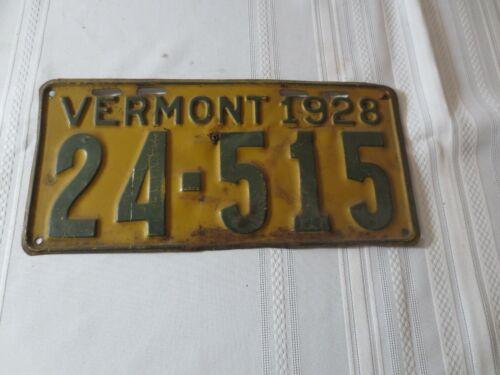 1928 VERMONT  LICENSE PLATE 24-515