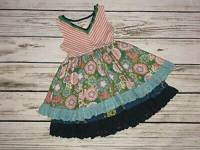 Matilda Jane Girls Size 4 Its A Wonderful Parade Cake Walk Tank Dress Tiered