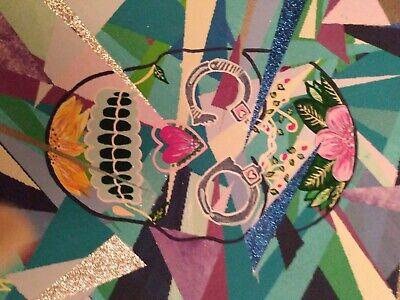Sugar Skull Hand Painted Canvas 1114