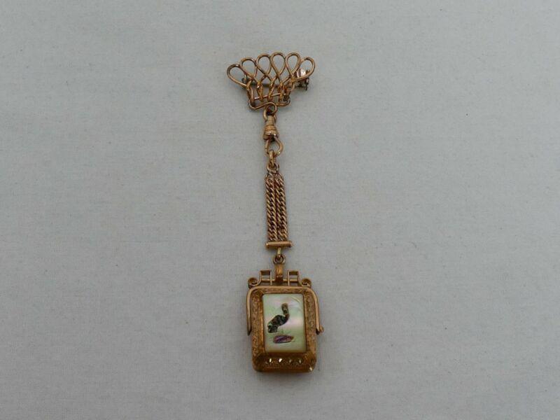 Antique Gold Filled Watch Fob & Locket XK-3