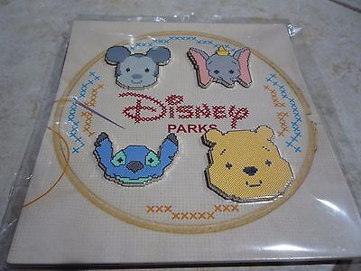 Pin Trading Disney Pins Lot of 4 Cross Stitch Set Mickey Mouse Dumbo Pooh New