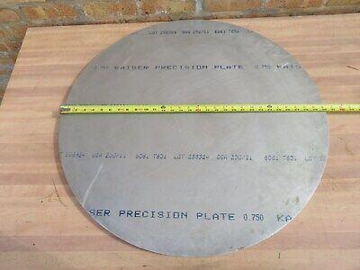 30 Diameter X 34 Thick Precision Aluminum Round Disc Plate 6061 T6