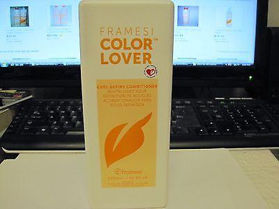 Framesi Color Lover Curl Define CONDITIONER  Liter LARGE SIZE 33 OZ  w/ pump NEW