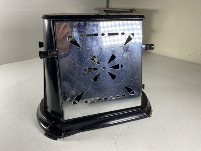 Antique Sterling Electric toaster Untested Type AEUE Chicago Electric no cord AH