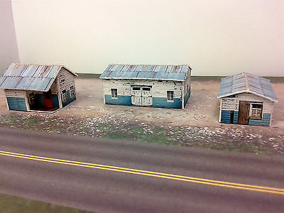 Used, Z Scale Buildings Kit - (3) Weathered Effect Sheds - Coverstock Model Kit SK1 for sale  Canada