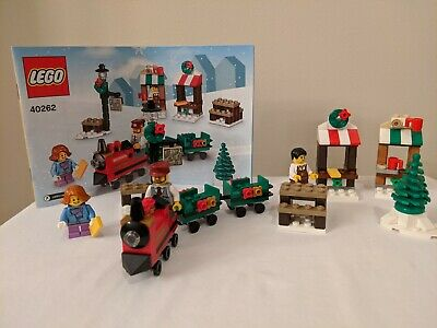 Lego 40262 Christmas Train Ride; Complete, includes 3 minifigures