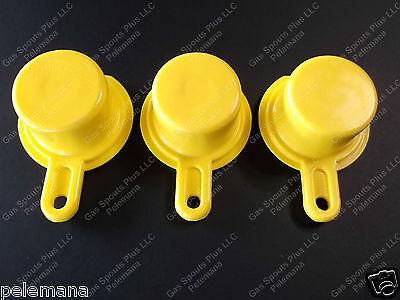 3-pk Blitz Yellow Spout Caps Mr Yellow Cap Blow Out Sale 900092 900094 900302