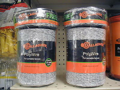 Gallagher - Polywire - 2 Rolls Combo Roll - 1320ft. Plus 300ft. Free