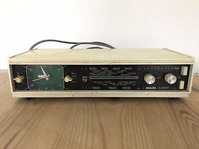 Vintage phillips 60's 70's radio alarm clock RARE