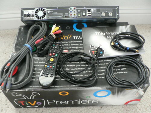 TiVo Premiere Box Model TCD746320  with cables, 45 HD hours