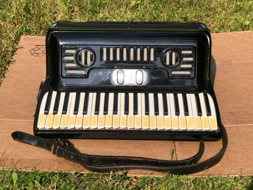 Vintage Black Piano Accordion 41 120 Made in Italy