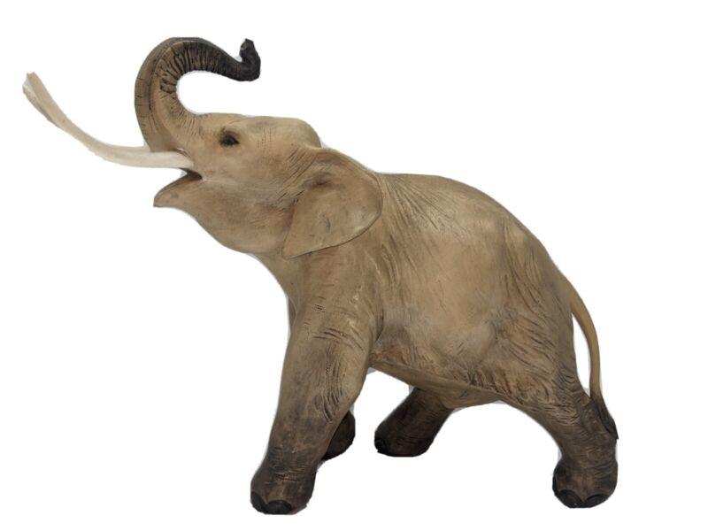 VTG Guido Cacciapuoti LARGE Stoneware Elephant Signed 60s Made in Italy RARE BIG