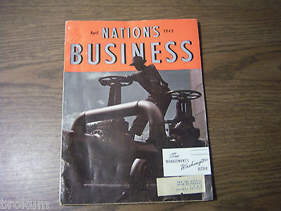 Nations Business Magazine April 1943 Good Condition War News