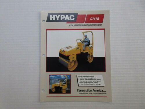 Hypac C747B Vibratory Compactor Sales Brochure