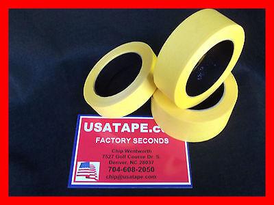Lot Of 48 Rolls 1 X60fine Edge Yellow Painters Masking Tape Usa  Famous Brand