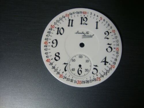 illinois 16s santa fe pocket watch dial d. sunk