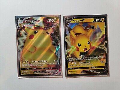 Pokemon Sword & Shield Vivid Voltage Pikachu VMAX 044 Pikachu V 043 NM/M