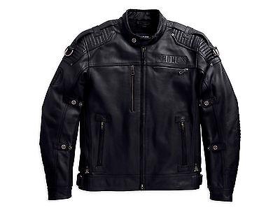 Serpentine Leder (Harley Davidson Herren Roadshow Serpentine Reflektierende Lederjacke M)
