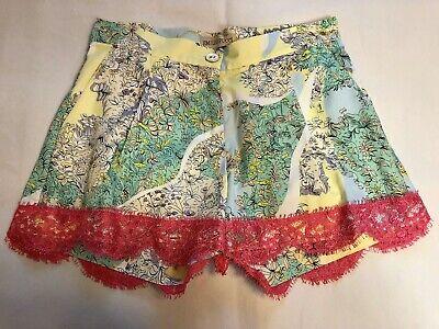 Emilio Pucci Junior printed lace cuff shorts 10Y NWT